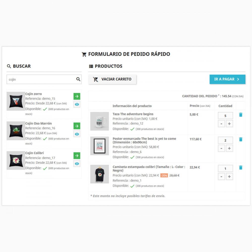 module - Proceso rápido de compra - Formulario de pedido rápido y fácil - 1