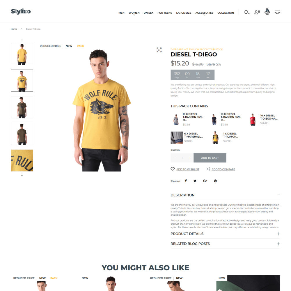theme - Mode & Schoenen - Steplex - T-Shirt Store - 5