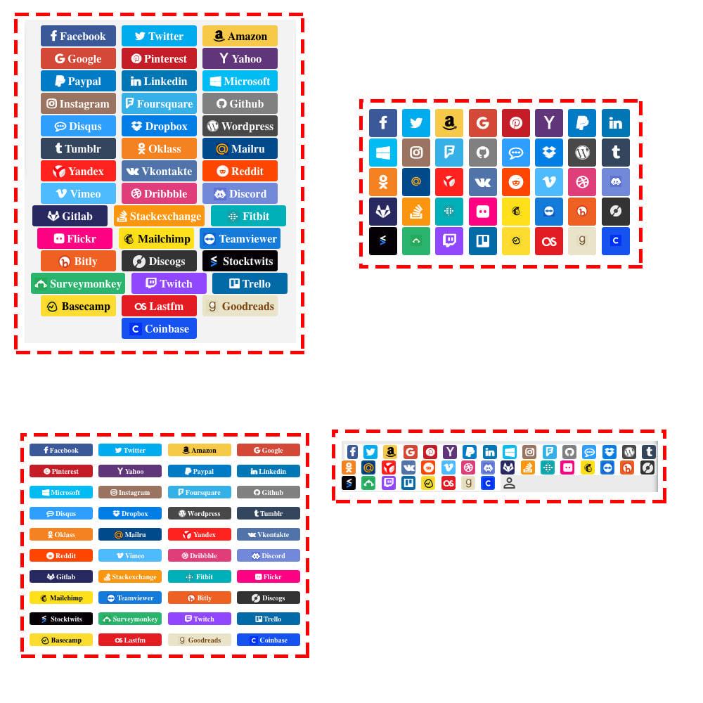 module - Boutons Login & Connect - Social Connexions et Coupons 40 en 1 + Statistiques - 9