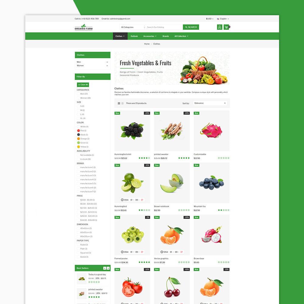theme - Alimentation & Restauration - Organic Farm & Vegetable Store - 3