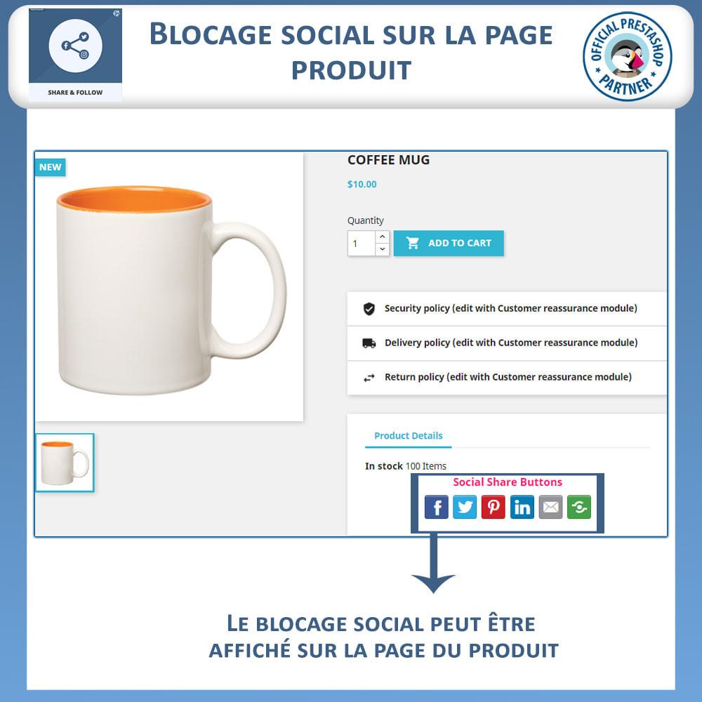module - Boutons de Partage & Commentaires - Partagez et Suivez - Widget Social - 4