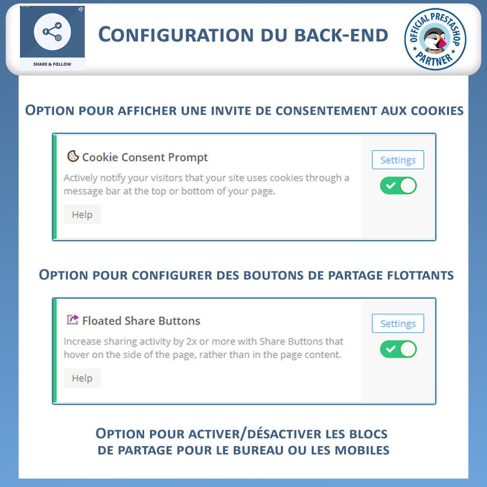 module - Boutons de Partage & Commentaires - Partagez et Suivez - Widget Social - 7
