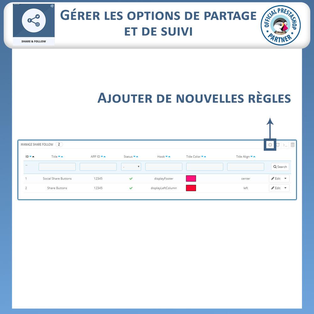 module - Boutons de Partage & Commentaires - Partagez et Suivez - Widget Social - 8