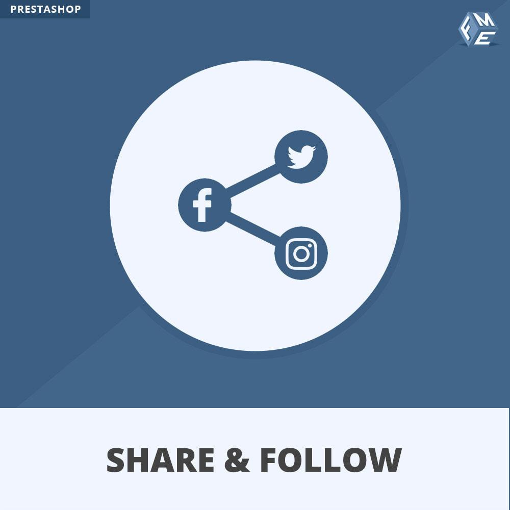 module - Compartir contenidos y Comentarios - Compartir y Seguir - Widget social - 1