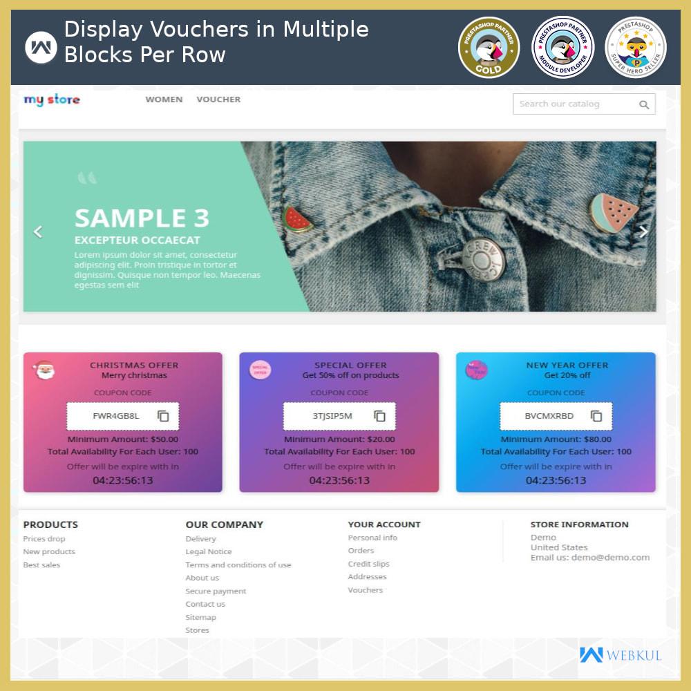 module - Promociones y Regalos - Voucher Promotion | Coupon Advertisement - 7