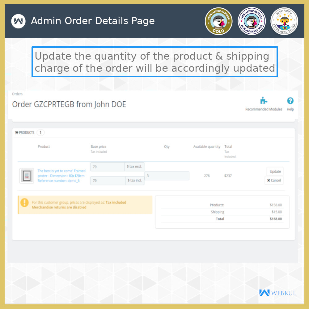 module - Shipping Carriers - Order Carrier Change - 8