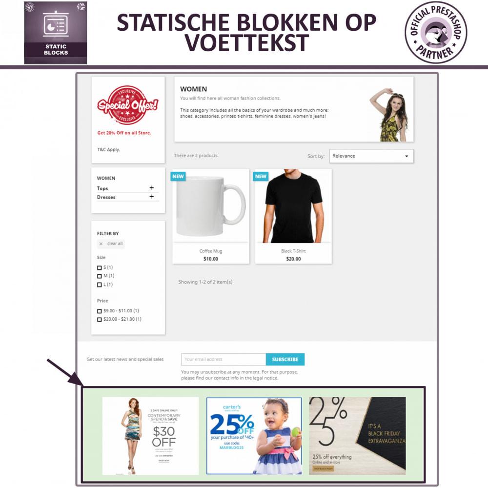module - Blokken, Tabbladen & Banners - Statische Blok - HTML, Tekst- en Multimedia Blokken - 4