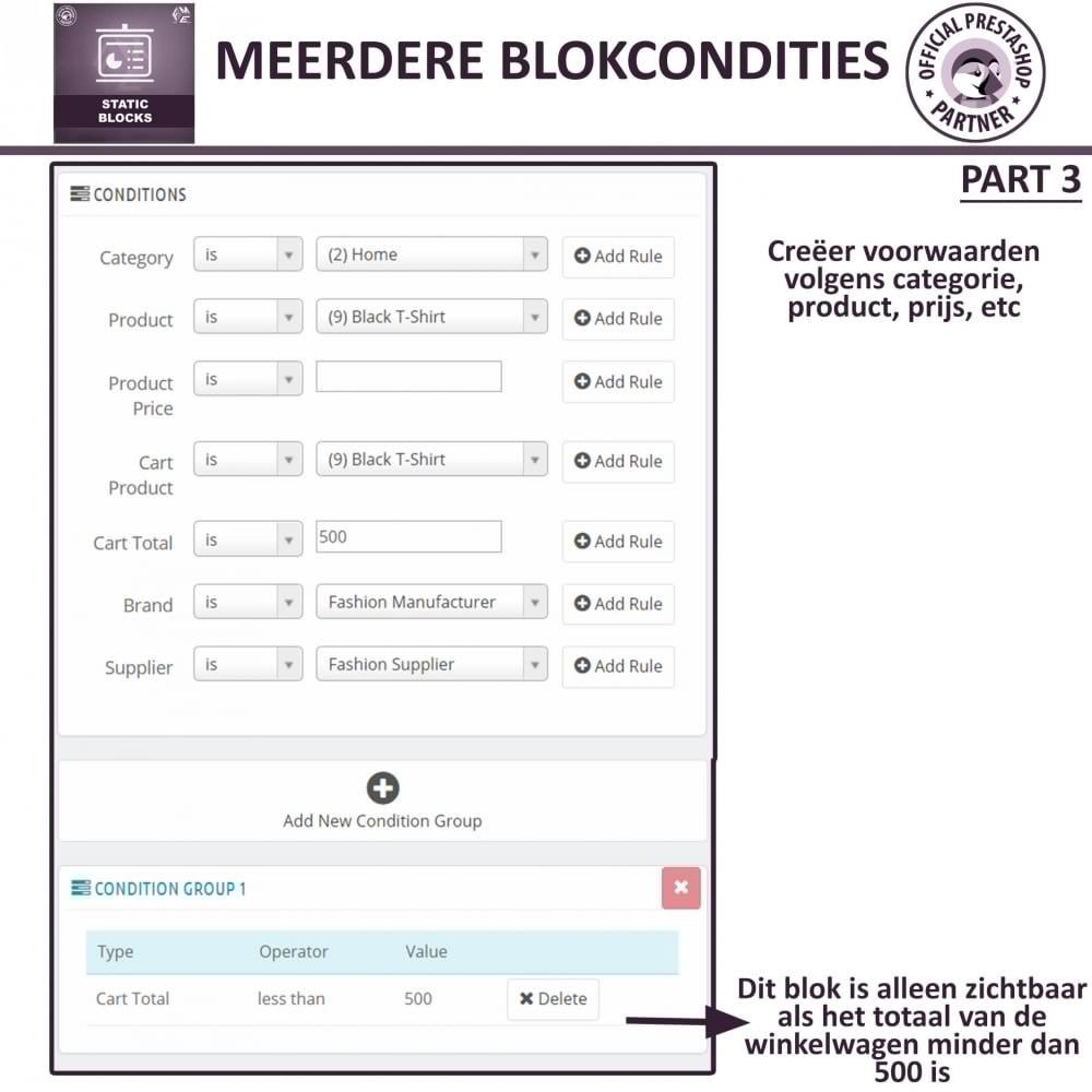 module - Blokken, Tabbladen & Banners - Statische Blok - HTML, Tekst- en Multimedia Blokken - 21