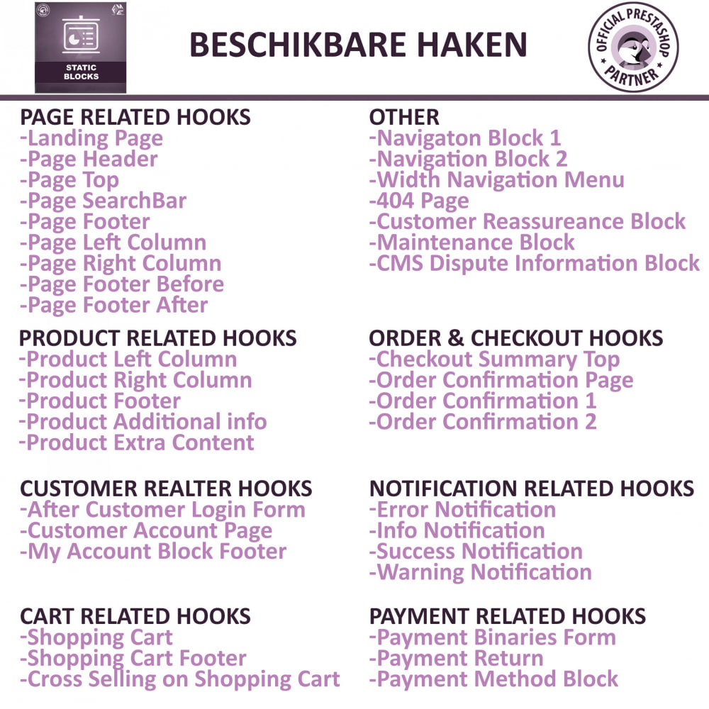 module - Blokken, Tabbladen & Banners - Statische Blok - HTML, Tekst- en Multimedia Blokken - 5