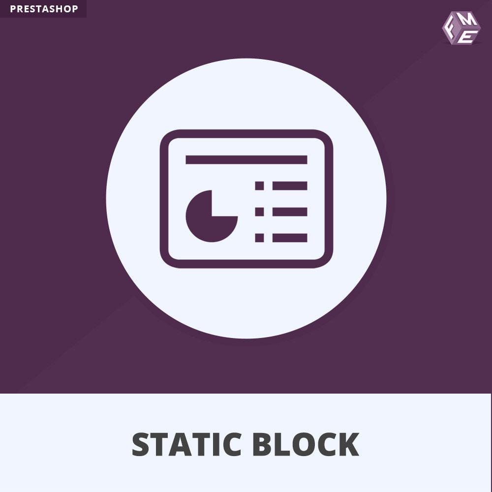 module - Bloki, Zakładki & Banery - Bloków Statycznych - 1