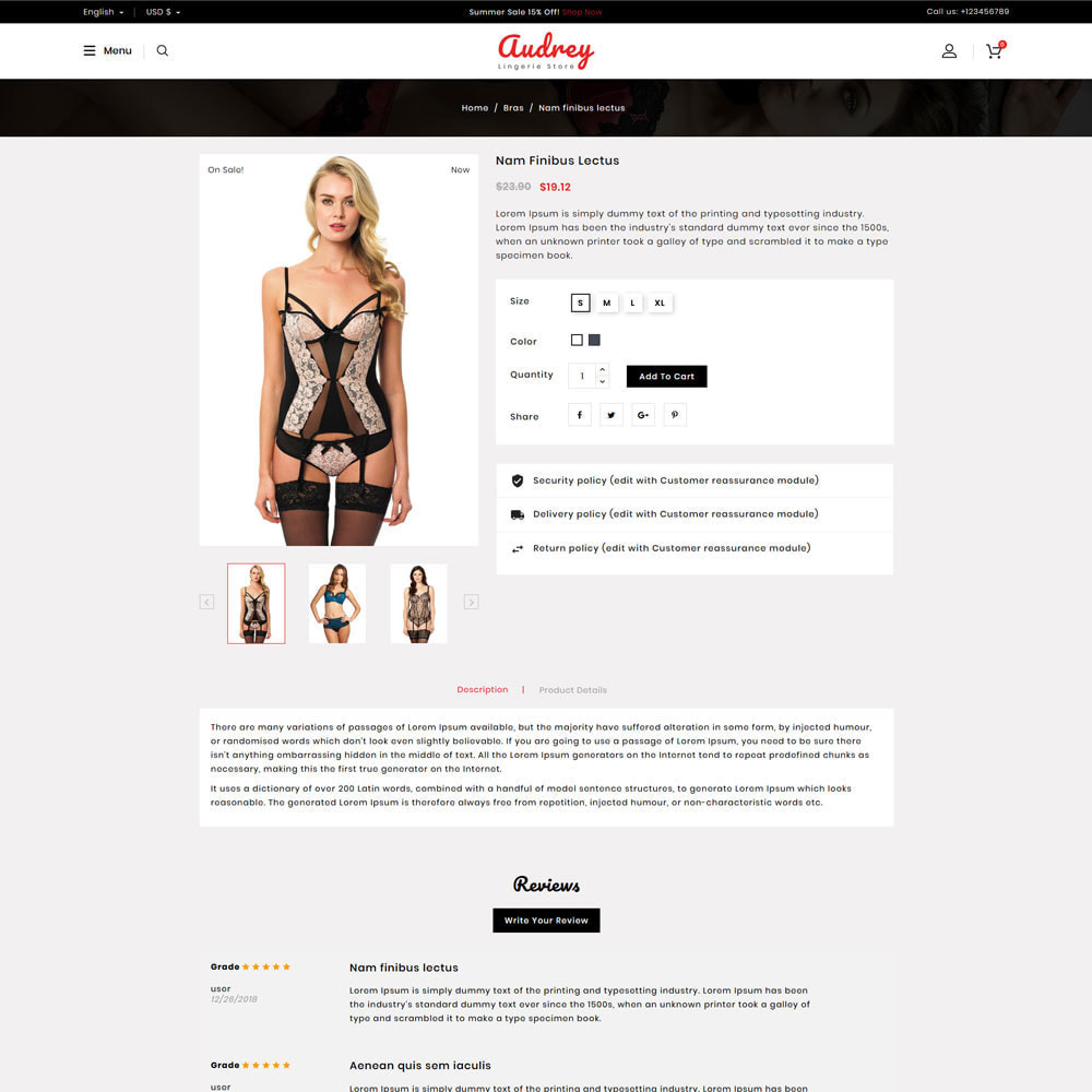 theme - Bielizna & Dorośli - Audrey Lingerie Shop - 4