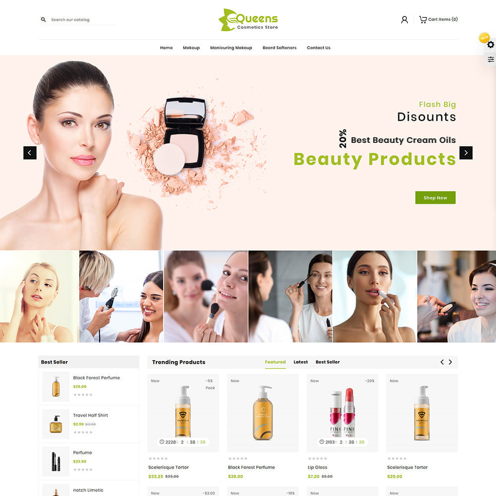 theme - Health & Beauty - Queens Cosmetic Shop - 2