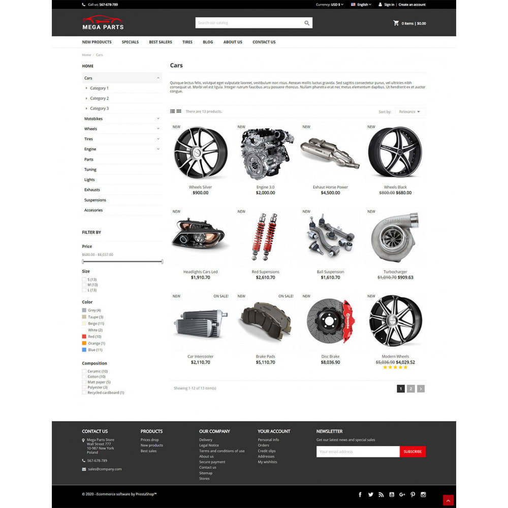 theme - Automotive & Cars - Mega Parts Store - 4