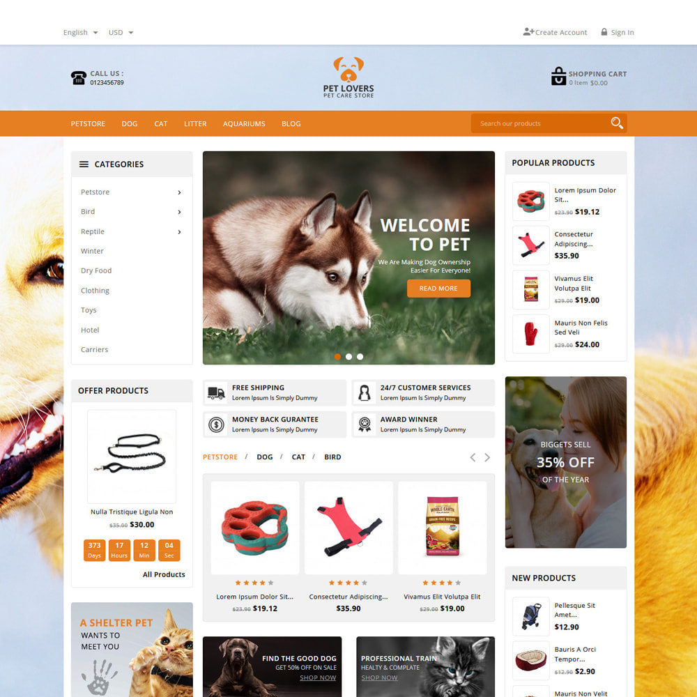 theme - Animals & Pets - Petlovers Animals & Pet Shop - 2