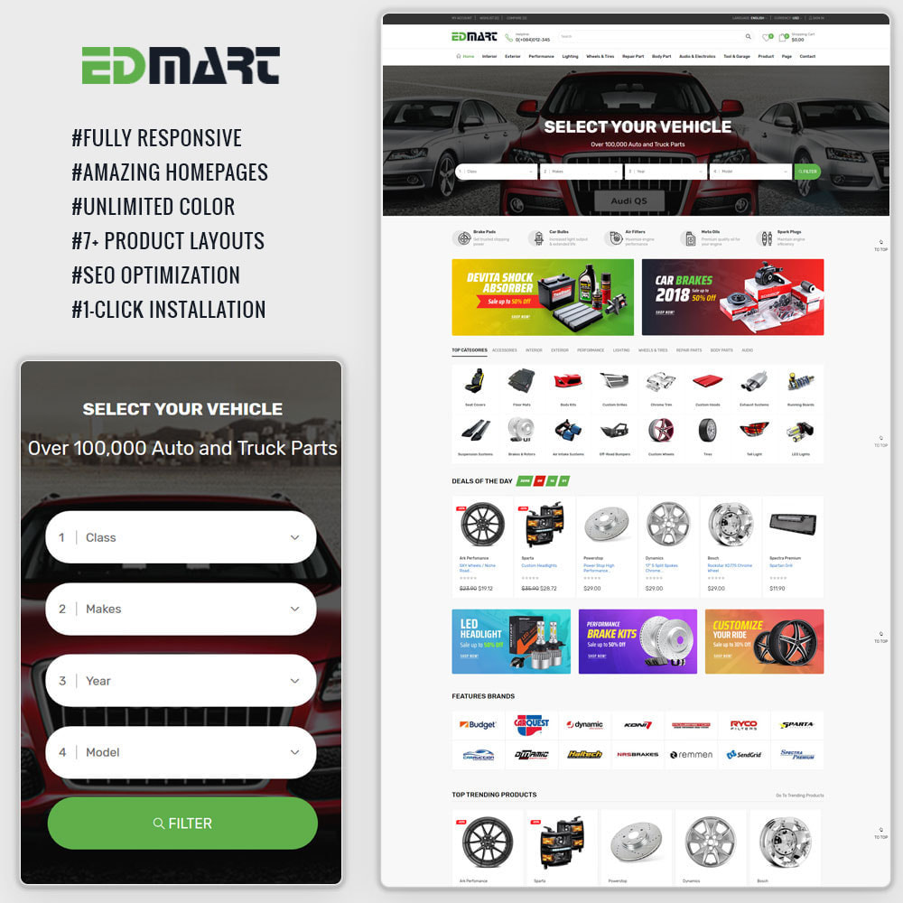 theme - Auto & Moto - Edmart - Auto Parts Cars Store & Suppermarket - 1