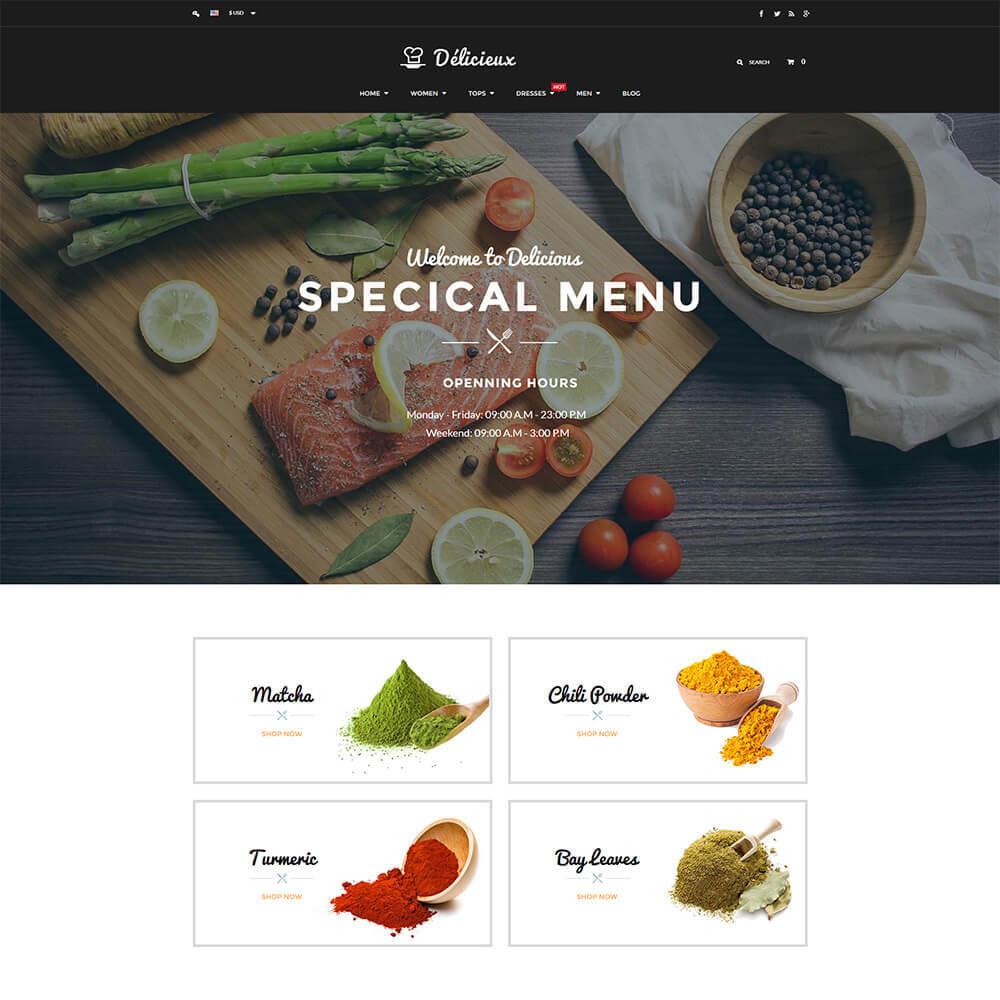 theme - Żywność & Restauracje - Online Restaurant - 2
