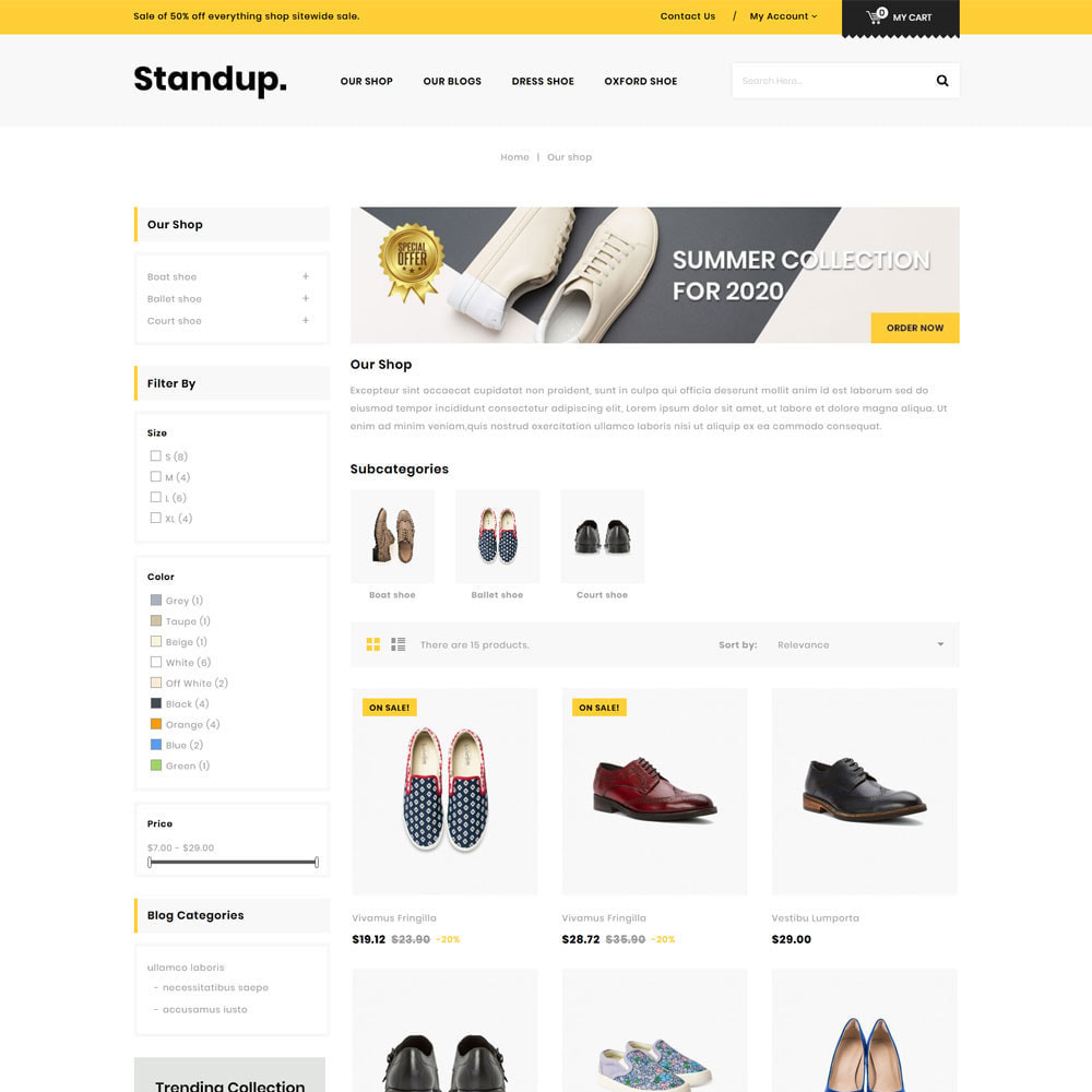 theme - Fashion & Shoes - Standup - The Shoes Store - 4
