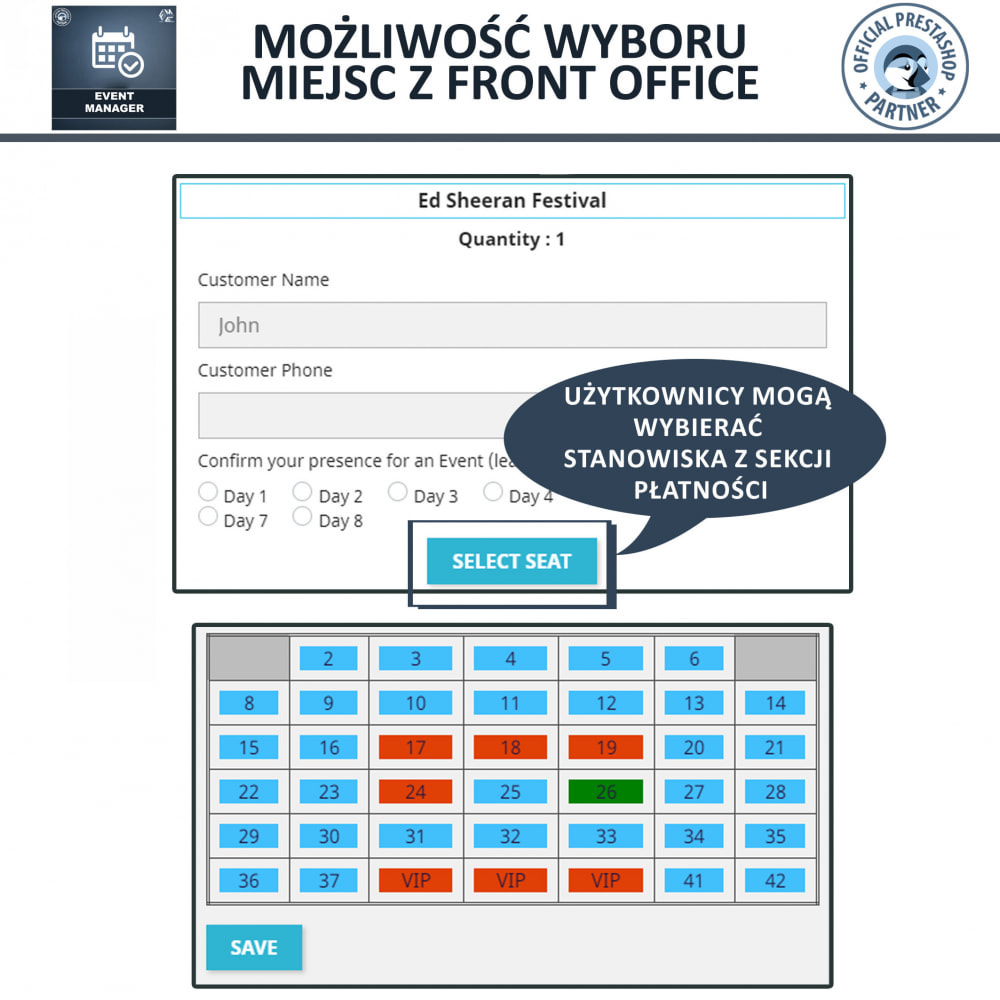 module - Wynajmu i rezerwacji - Menadżer wydarzeń, Twórz Wydarzenia i Sprzedawaj Bilety - 6
