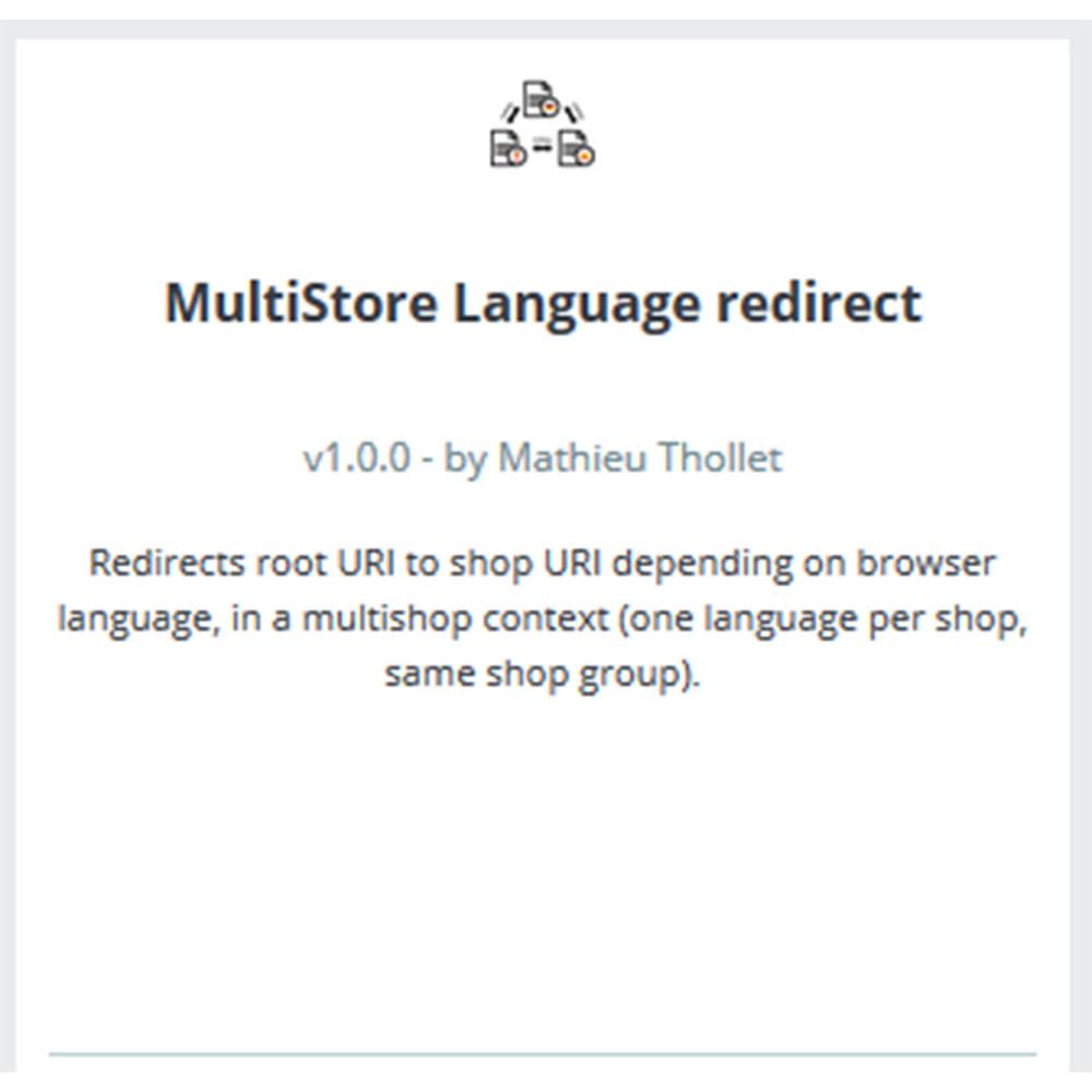 module - Internacional & Localização - Redirecionamento de idioma - Multi shop - 3