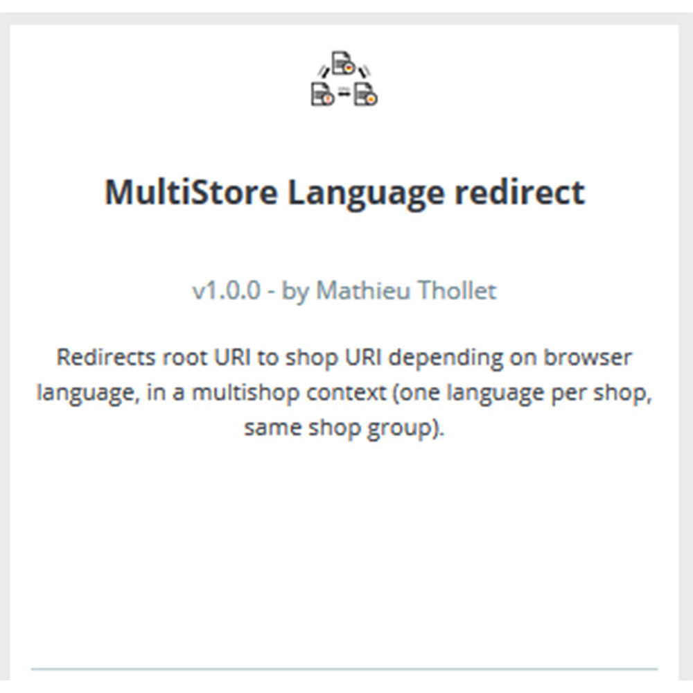 module - Internationalisierung & Lokalisierung - Sprachumleitung - Multi-Shop - 3