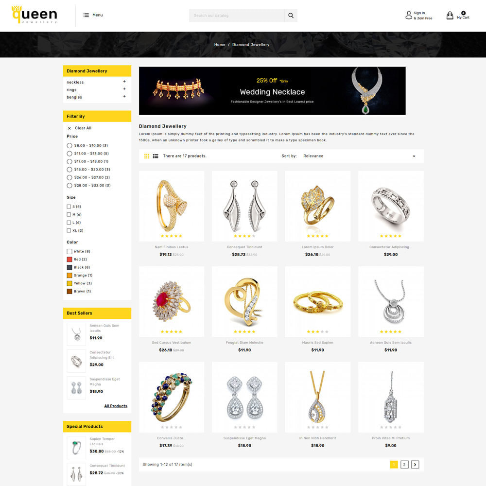 theme - Jewelry & Accessories - Queen jewellery Shop - 3