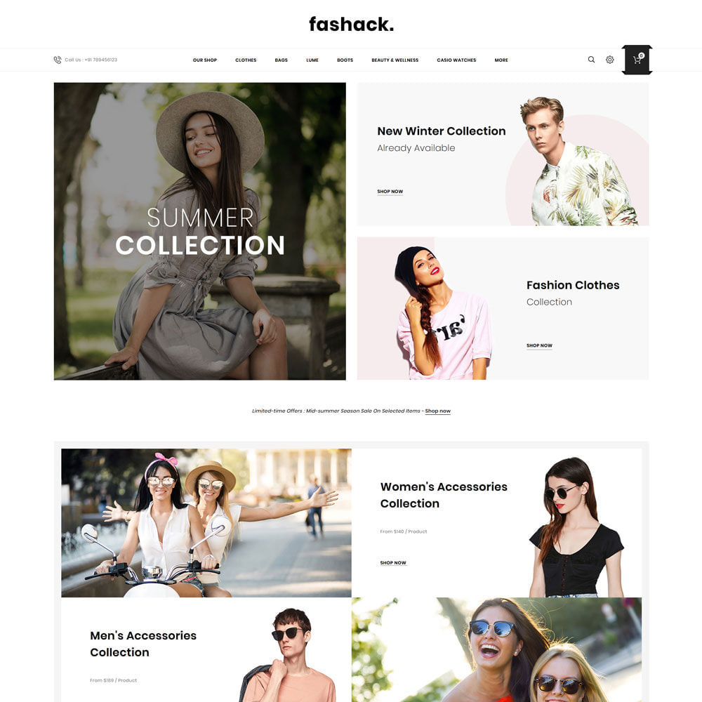 theme - Fashion & Shoes - Fashack - The Fashion Store - 3