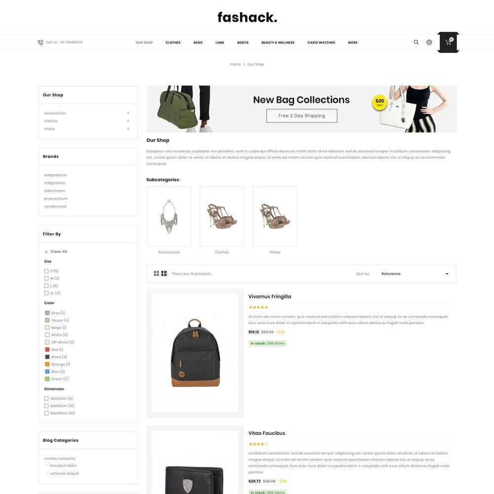 theme - Moda & Calzature - Fashack - Il negozio di moda - 6