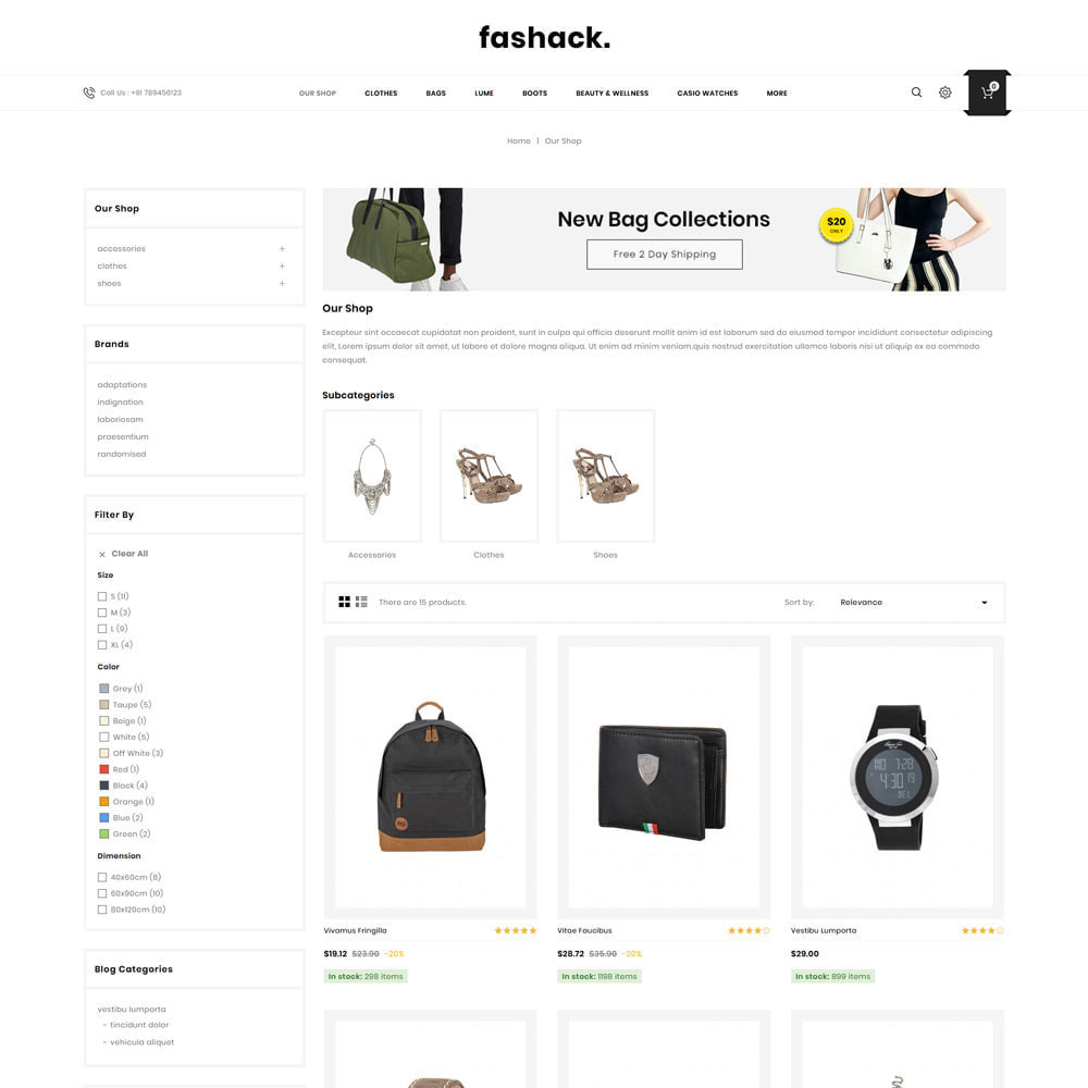 theme - Mode & Chaussures - Fashack - Le magasin de mode - 5