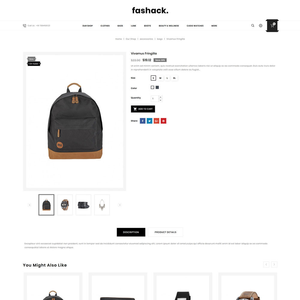 theme - Mode & Chaussures - Fashack - Le magasin de mode - 7