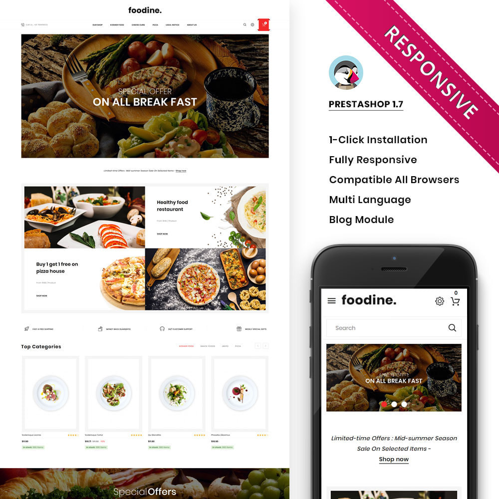 theme - Alimentation & Restauration - Foodine - Le magasin d'alimentation Mega - 1