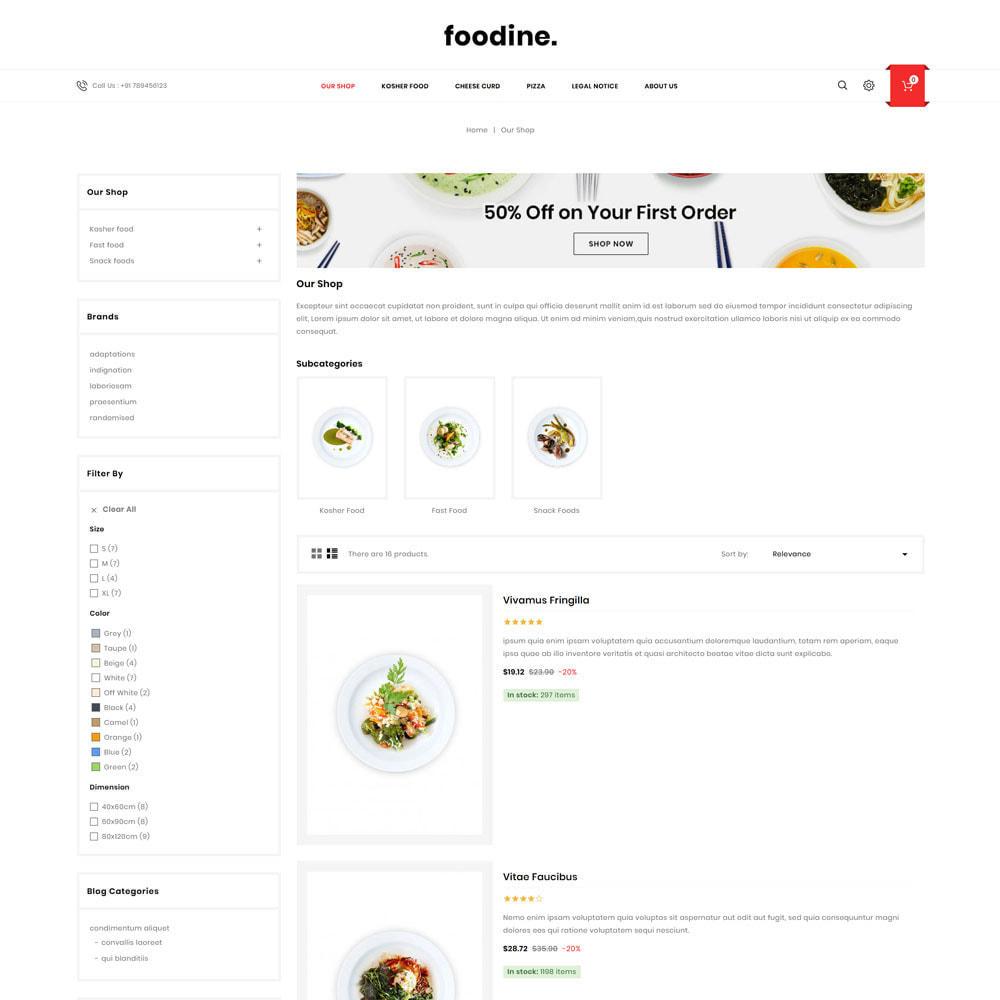 theme - Cibo & Ristorazione - Foodine - Il mega negozio di alimentari - 6