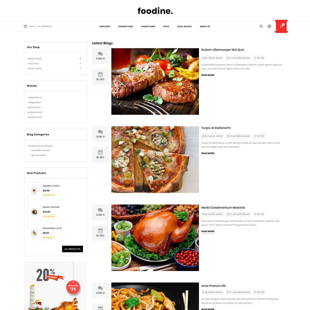 theme - Alimentation & Restauration - Foodine - Le magasin d'alimentation Mega - 8