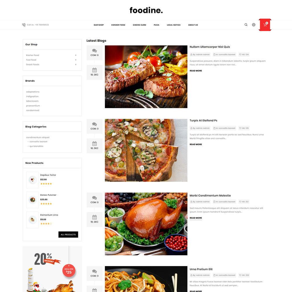 theme - Alimentation & Restauration - Foodine - Le magasin d'alimentation Mega - 8
