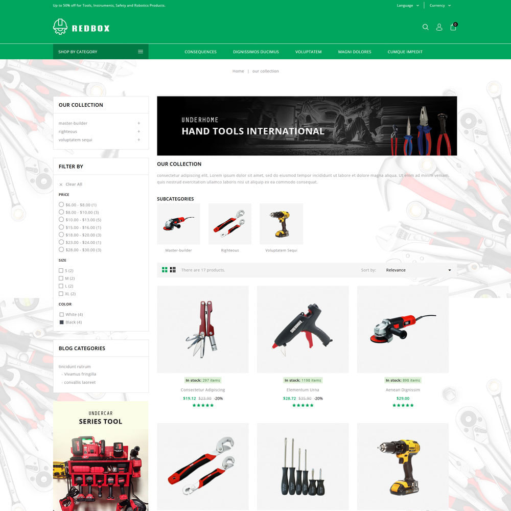 theme - Automotive & Cars - Redbox - The Tool Store - 4