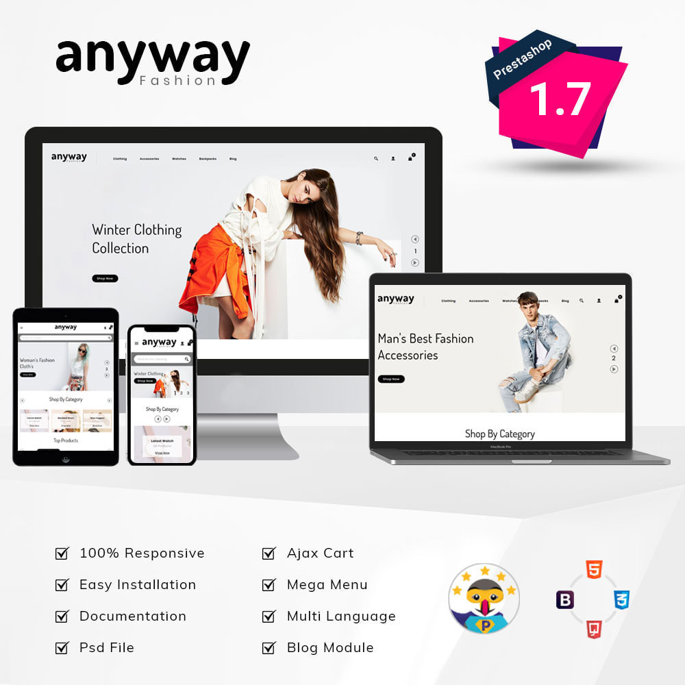 theme - Мода и обувь - Anyway Fashion Shop - 1