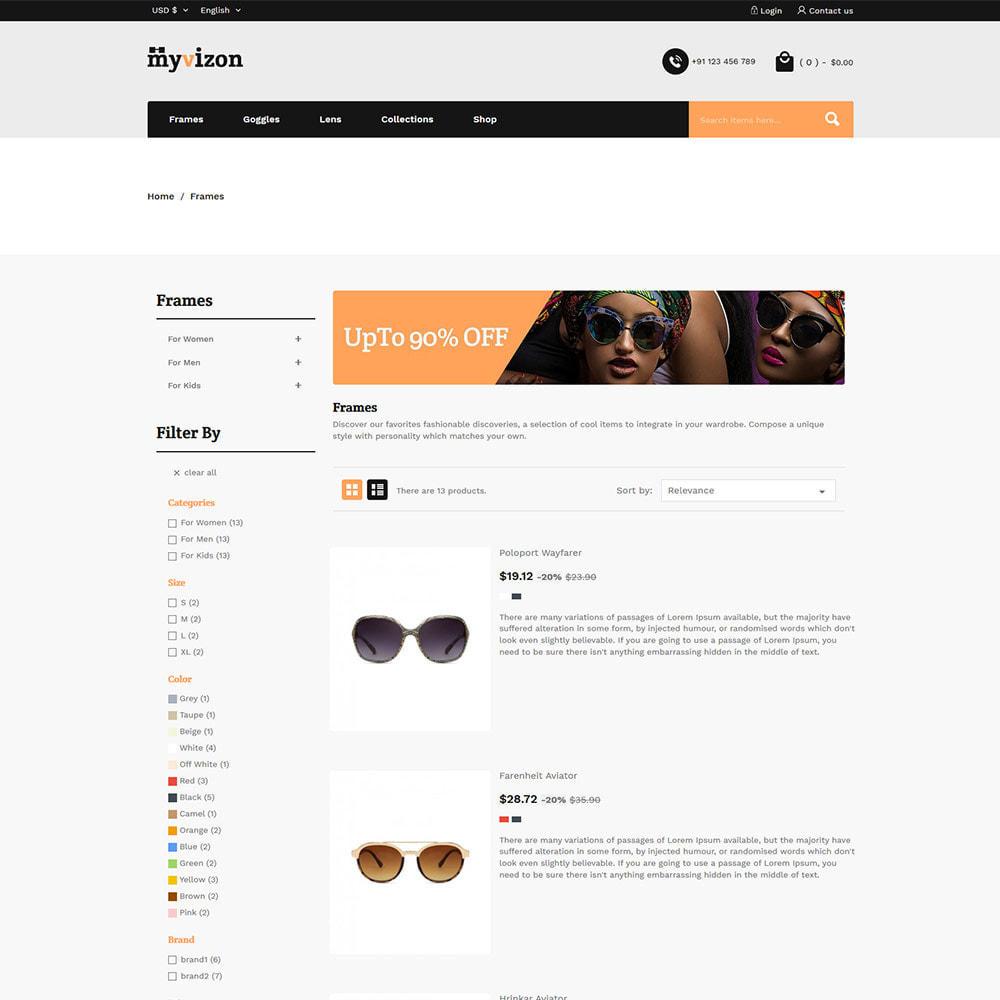 theme - Fashion & Shoes - Eye Sunglasses - Lens  Frame Glass Store - 4