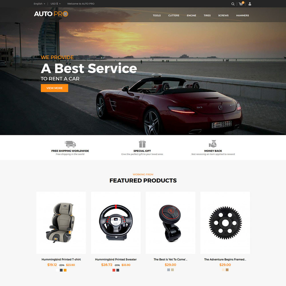 theme - Automotive & Cars - Auto Car - Tool Motor Spare Wheel Store - 2