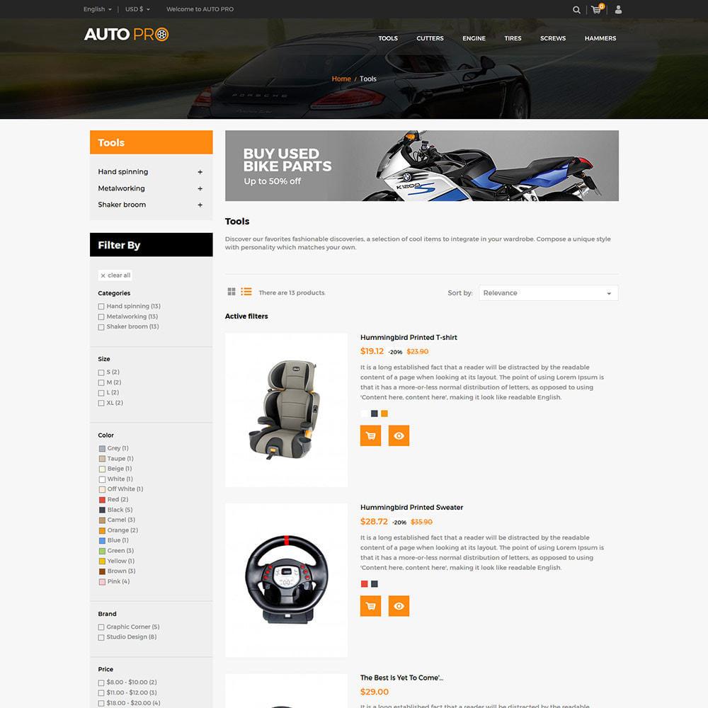 theme - Automotive & Cars - Auto Car - Tool Motor Spare Wheel Store - 4