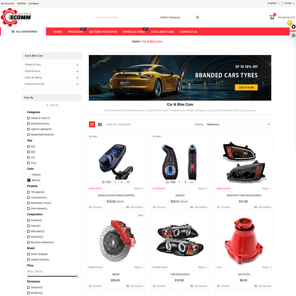 theme - Automotive & Cars - Autopart - Eccom Store - 2