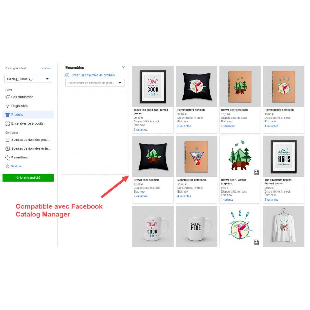 module - Produits sur Facebook & réseaux sociaux - Importateur de Catalogue sur Réseaux Sociaux Shop - 8