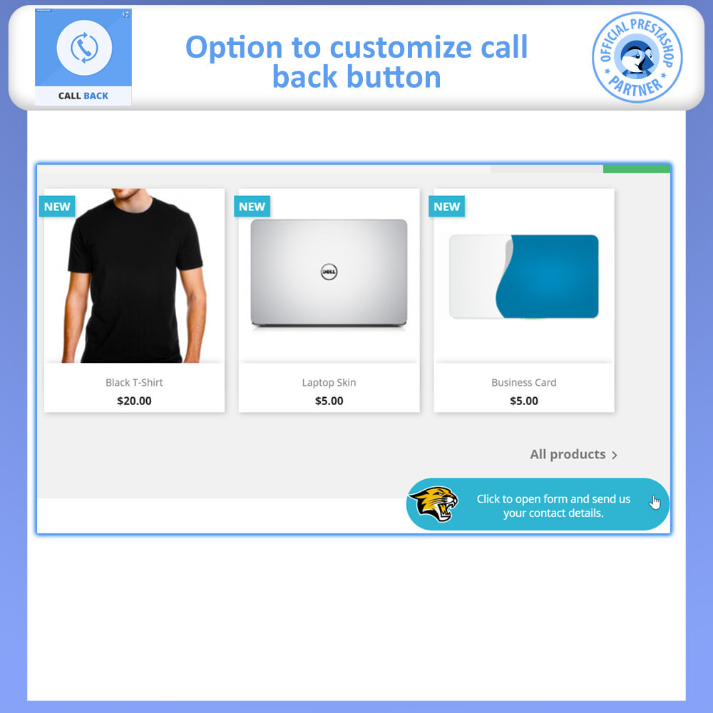 module - Support & Online Chat - Call Back - Fixed & Floating Call Back Form - 3