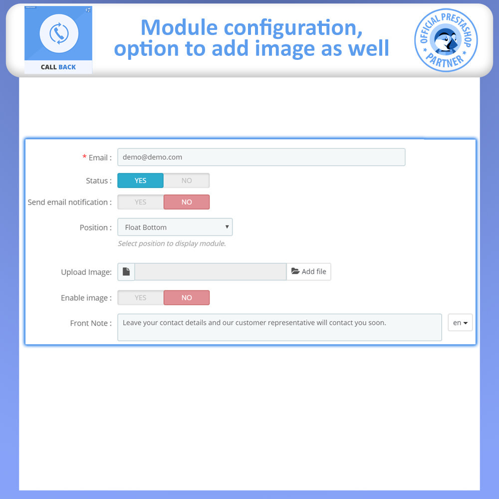 module - Support & Online Chat - Call Back - Fixed & Floating Call Back Form - 8