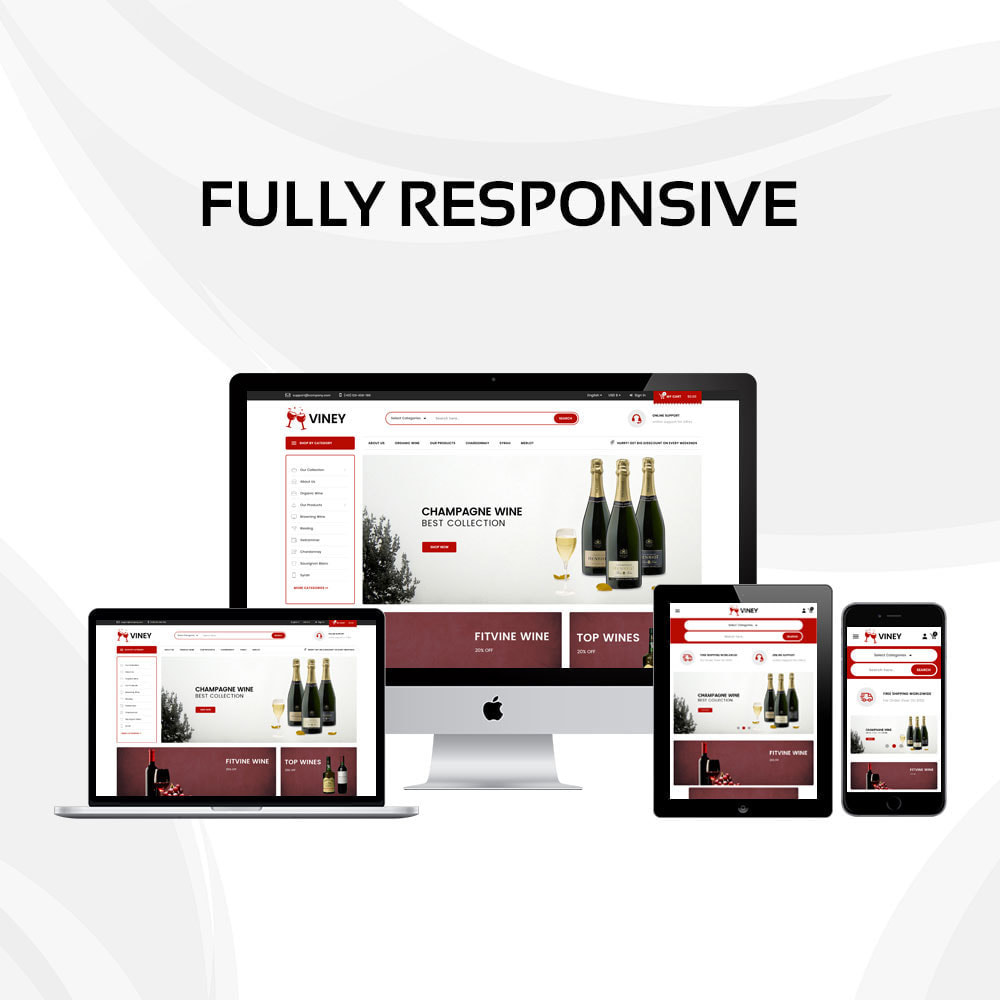 theme - Alimentation & Restauration - Viney - La Mega Wine Shop - 2