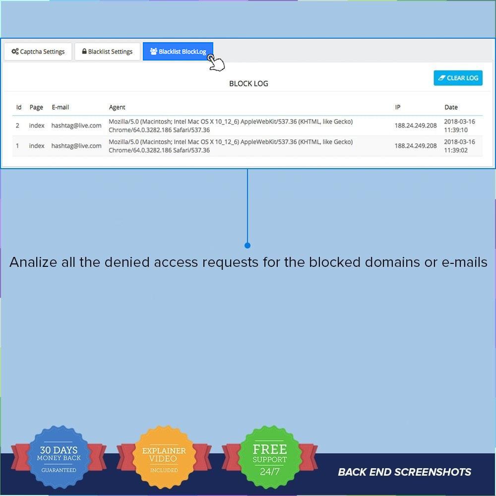 module - Security & Access - reCAPTCHA PRO - Semplice - Sicuro - 10