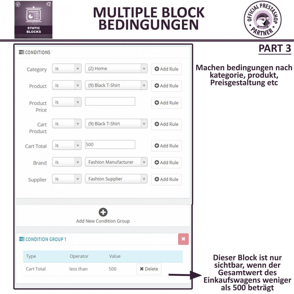 module - Blocks, Reiter & Banner - Statische Blöcke - Fügen Sie HTML- und Textblöcke hinzu - 8