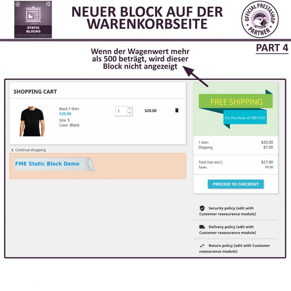 module - Blocks, Reiter & Banner - Statische Blöcke - Fügen Sie HTML- und Textblöcke hinzu - 10