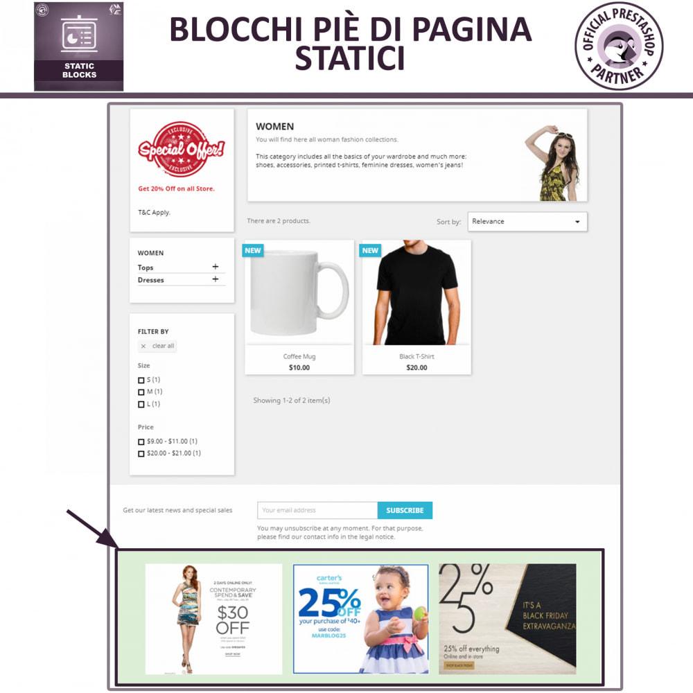 module - Blocchi, Schede & Banner - Blocchi Statici - Aggiungi HTML, Testi e Media Blocchi - 4