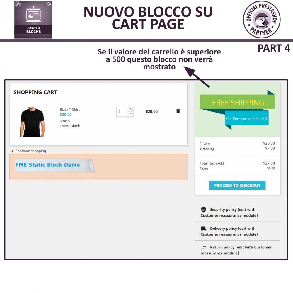 module - Blocchi, Schede & Banner - Blocchi Statici - Aggiungi HTML, Testi e Media Blocchi - 10