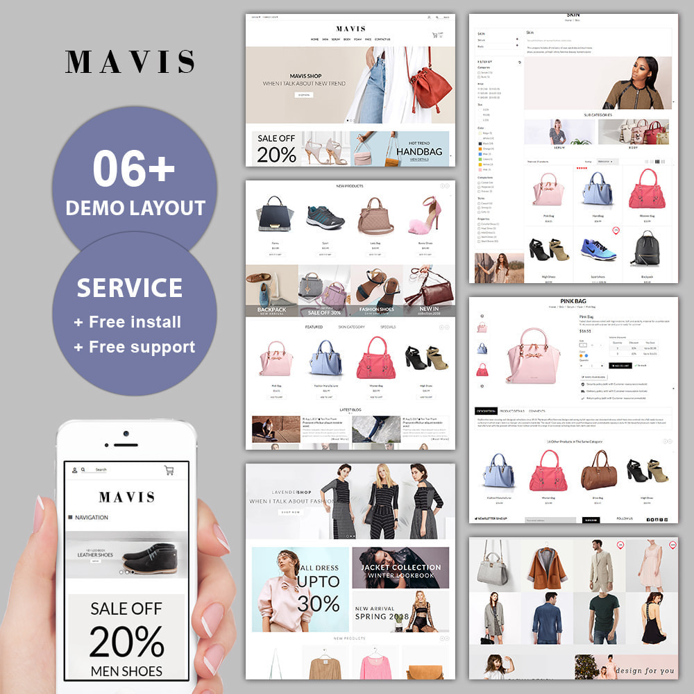 theme - Мода и обувь - Mavis Fashion Store - 1