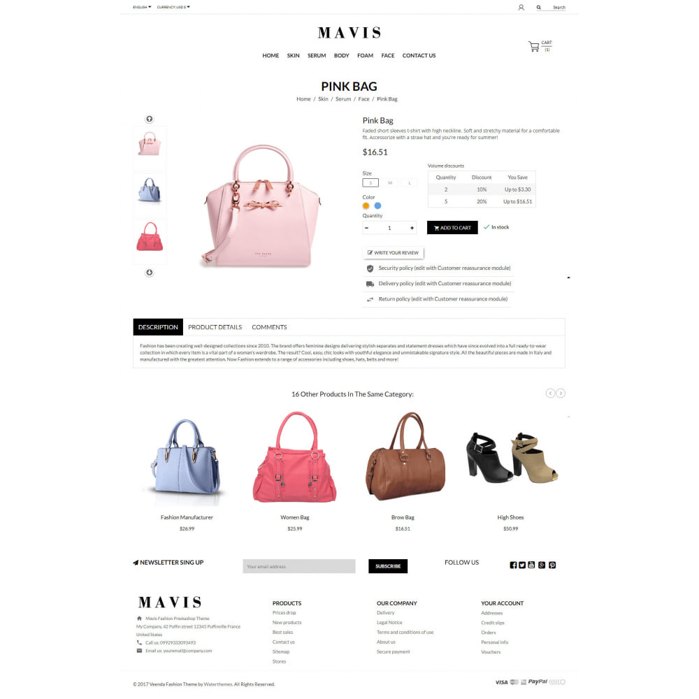theme - Мода и обувь - Mavis Fashion Store - 3